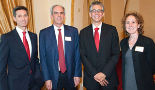 Dave Walsh, Robert W. Loewen, Dean Robert K. Rasmussen and Prof. Hannah Garry