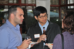 students at intl networking event Nov 2011